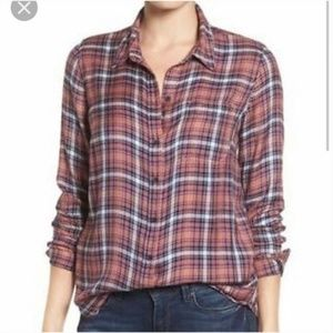 Lucky Brand Rust Plaid Flannel